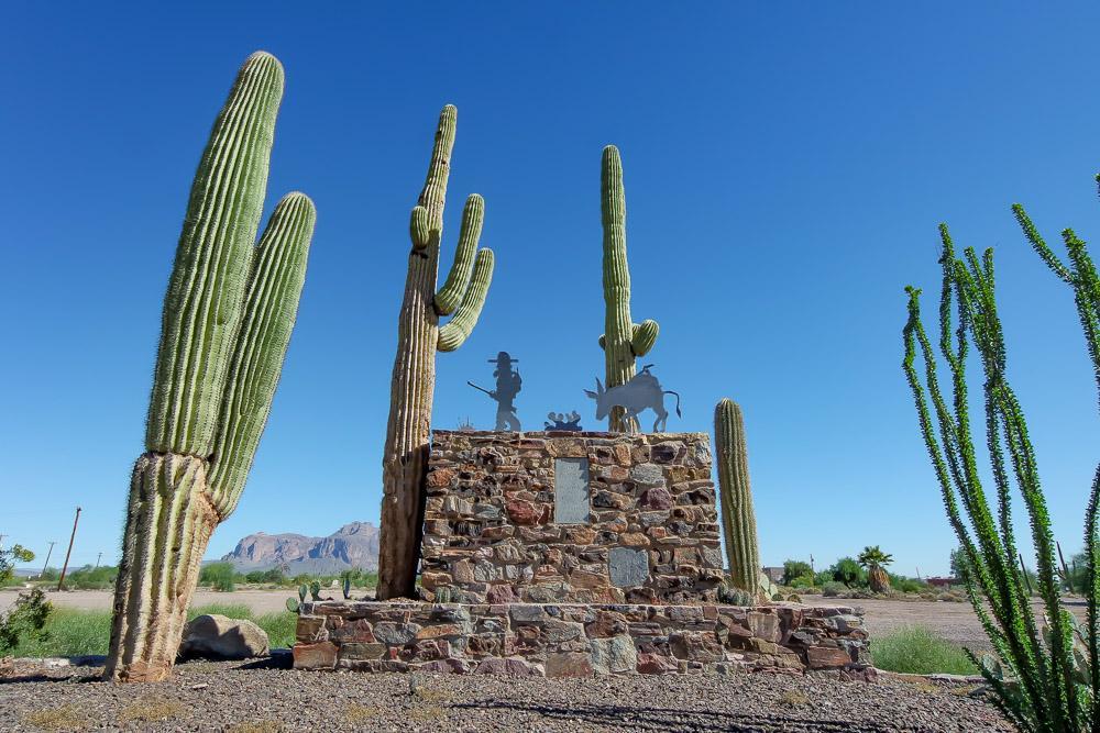 Lost Dutchman Monument in Downtown Apache Junction, AZ