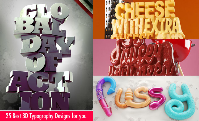 25 Best 3D Typography Designs and Ads for your Inspiration  World of Arts