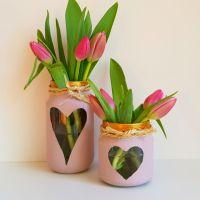 DIY Glazen Potjes Verven met Chalkpaint (Krijtverf)