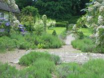 The Lavendar Terrace looking towards the Formal Garden