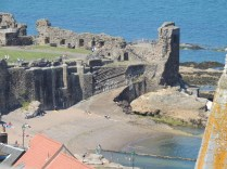 A close up on the Castle's beach by Stephanie Woods