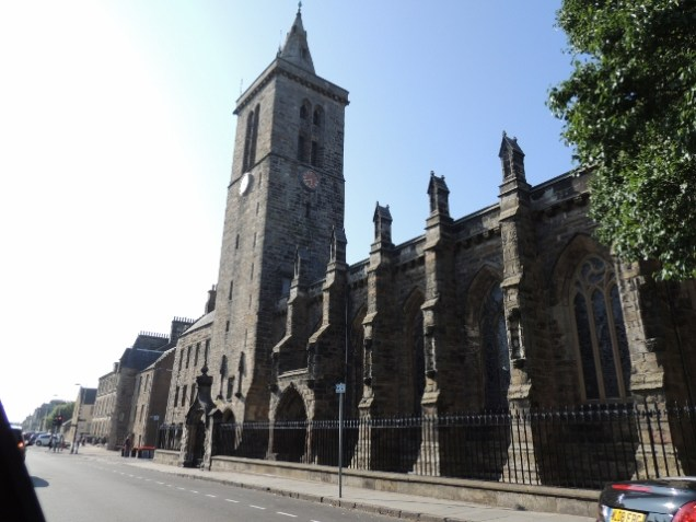 A close up of St Salvator's chapel as we drove by on the way home by Stephanie Woods
