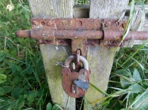 Padlock to the old Dundee-Newtyle Railway