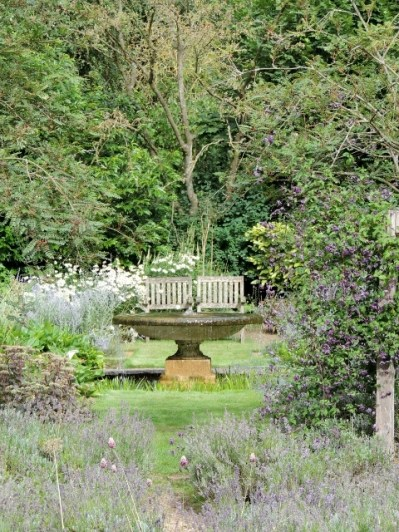 The view to the Water Garden from the Formal Garden by Stephanie Woods