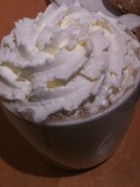 Peppermint hot chocolate from Starbucks