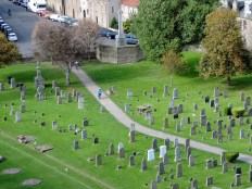 Graves from the top of St Rule's Tower