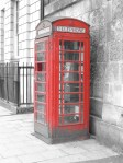 A Red police box highlighted in selective colouring