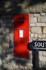 Postbox set into the wall