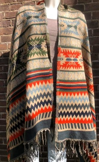 Tibetaanse sjaal, beige