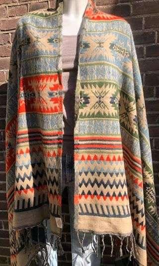 Tibetaanse sjaal, met zachte print