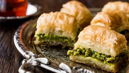 Pistachio baklava - Istanbul food and drink guide