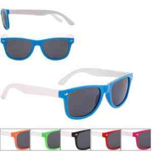 Childrens White Two Tone Wayfarer Sunglasses