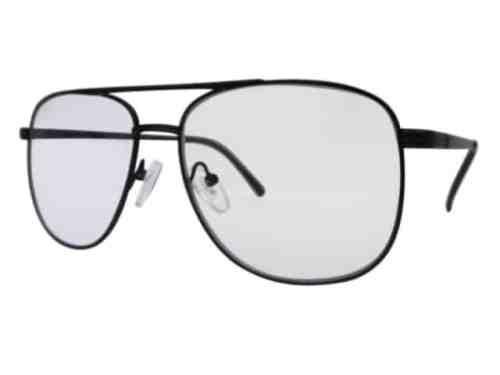 Texas Square Aviator Bifocal Reading Glasses in Black