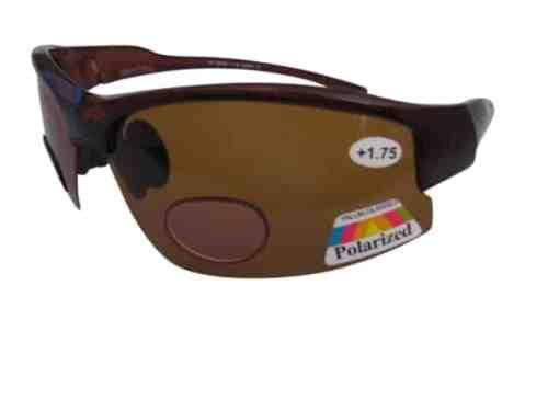 Lotus Polarised Bifocal Cycling Sunglasses in Amber