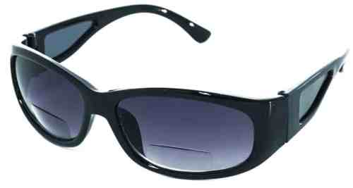 Houston Bifocal Sports Sunglasses in Black