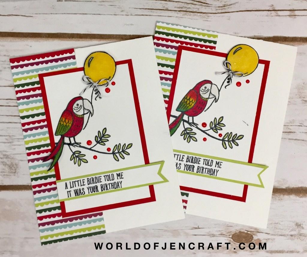 Stampin' Up! Bird Banter Birthday Card