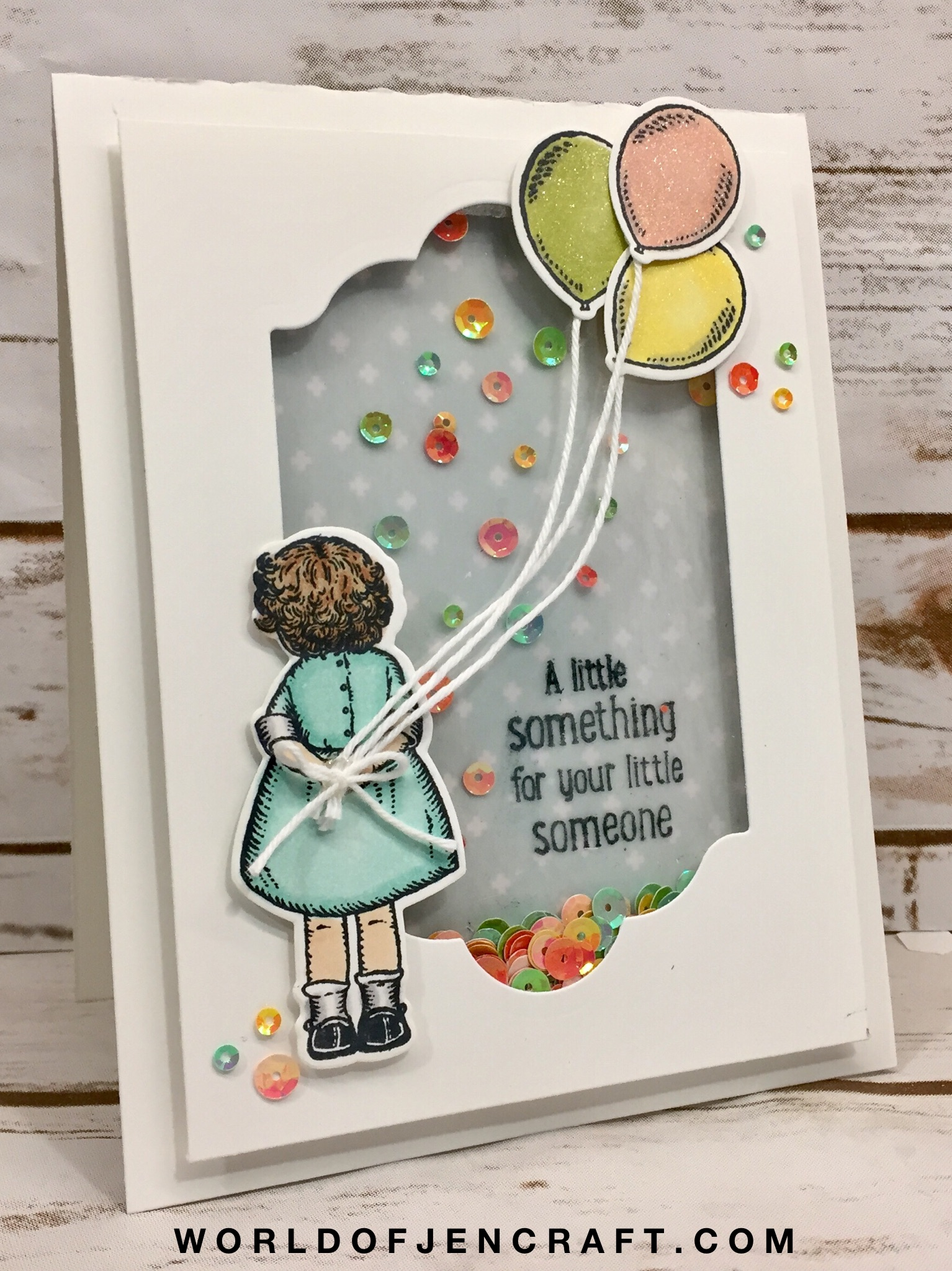 stampin up birthday delivery shaker card - Birthday Card Delivery