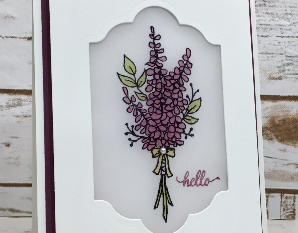 Lots of Lavender Stained Glass Window Card