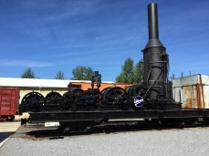 One of the engines for the railroad museum
