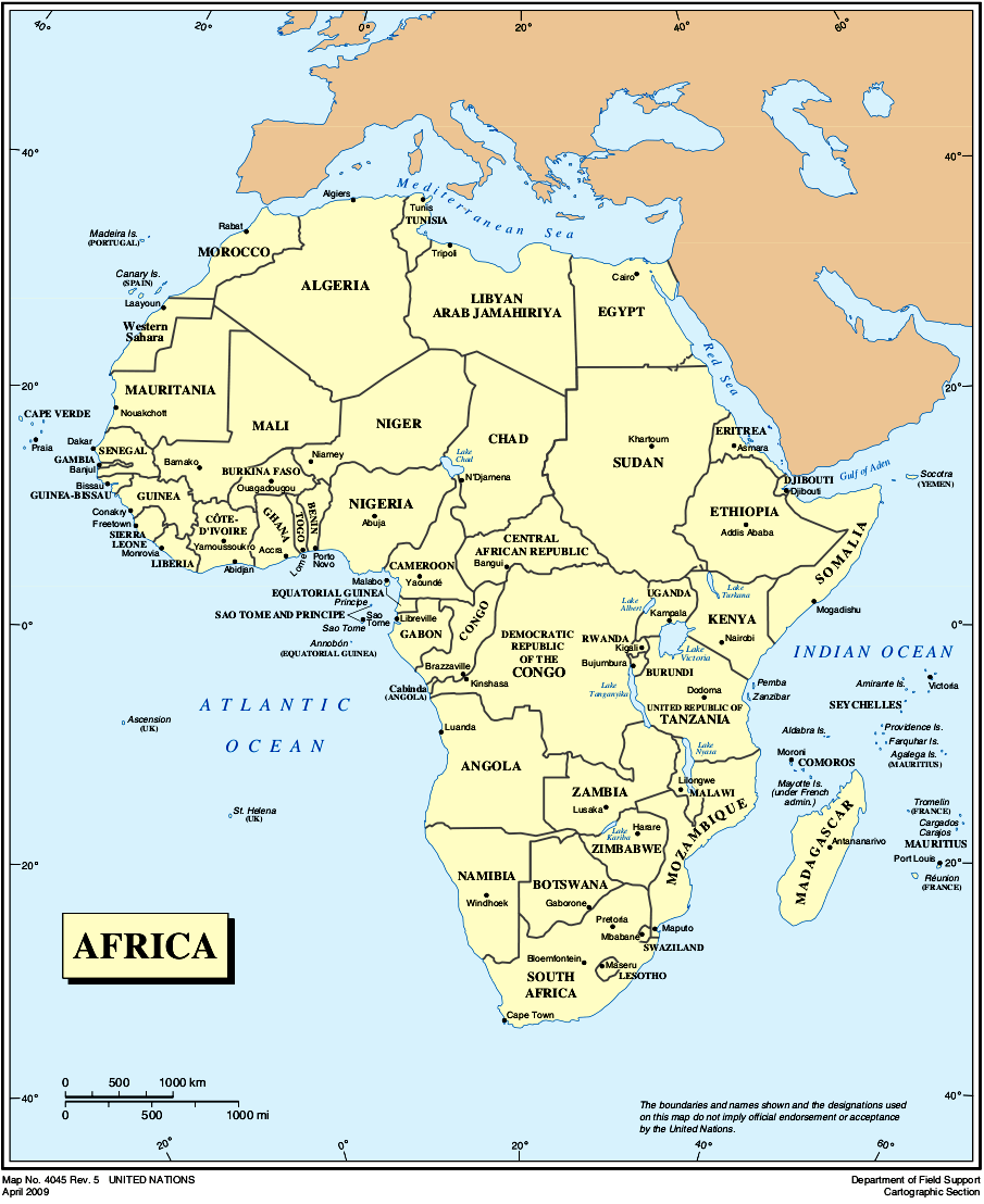 Map Of Africa In French : africa, french, Jungle, Maps:, Africa, French