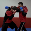 Transition elements of combat sambo
