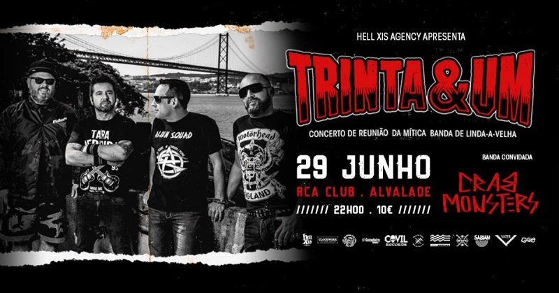 29/06/19 – Concerto de Reunião – Trinta & Um – RCA Club, Lisboa