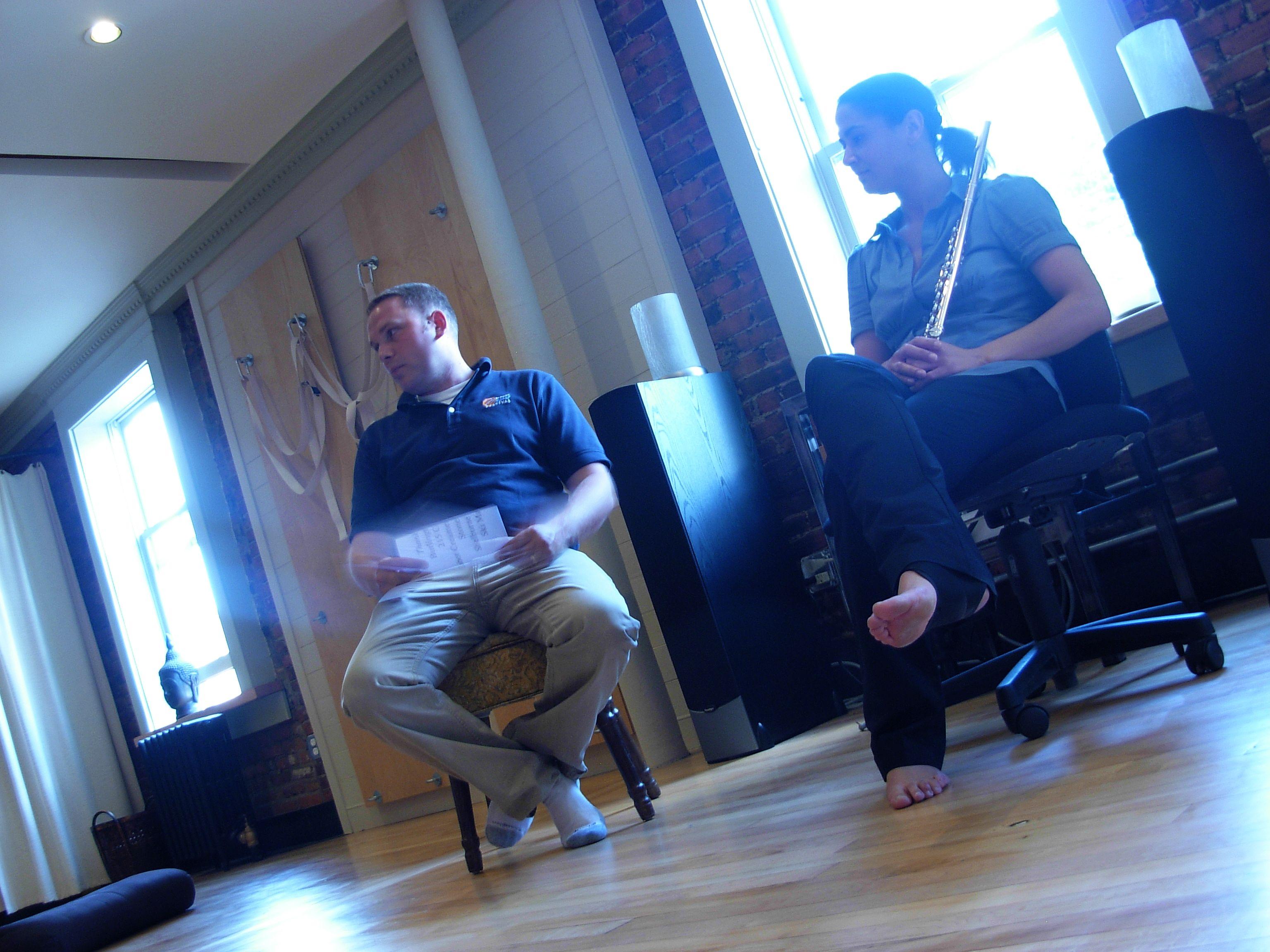 Executive Director Tim Riddle and Jennifer Grim