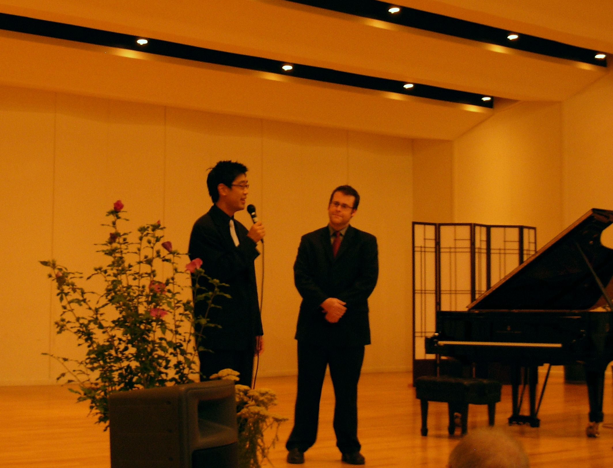 LCCMF Artistic Director Soovin Kim, and composer-in-residence David Ludwig
