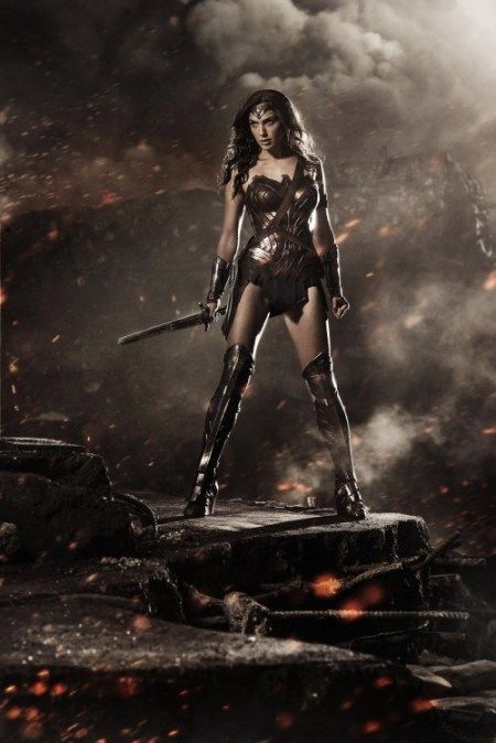 Gal Godot in her Wonder Woman costume revealed at Comic Con 2014