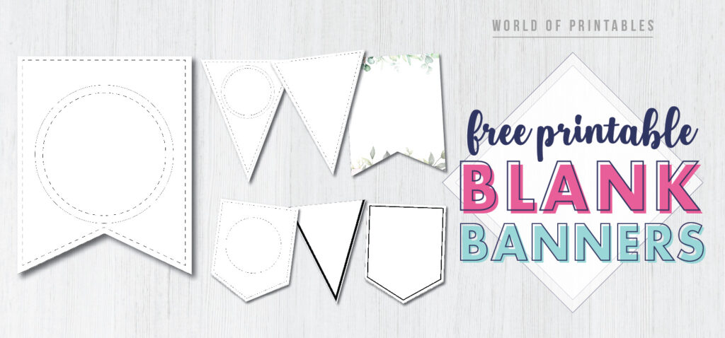 This is one of the ideal techniques to develop a stunning looking business card or invitation on your event. Free Printable Banner Templates Blank Banners World Of Printables