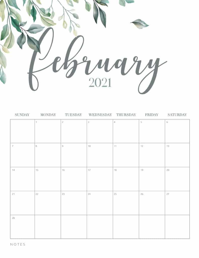 Download a free, printable calendar for 2021 to keep you organized in style. Calendar February 2021 - 68 Stunning Printable Calendars