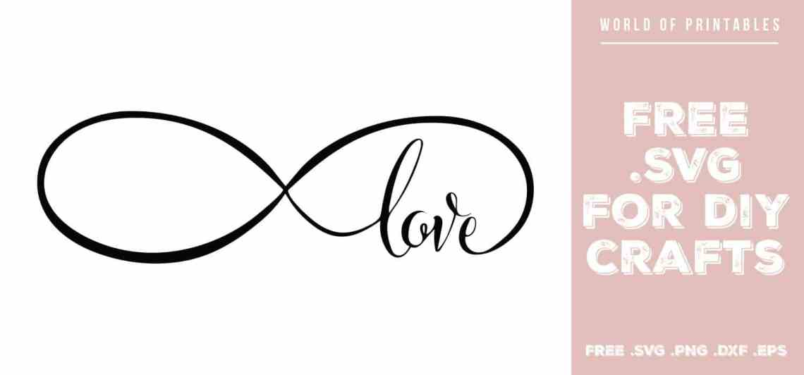 Download Infinity Love Free SVG Files   SVG, PNG, DXF, EPS