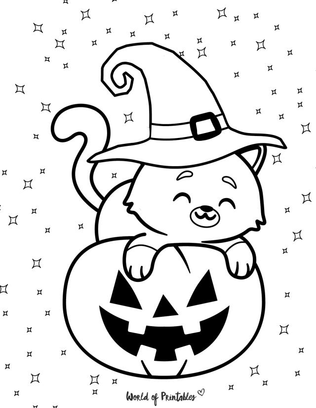 The 25 Best Halloween Coloring Pages For Kids & Adults - World of