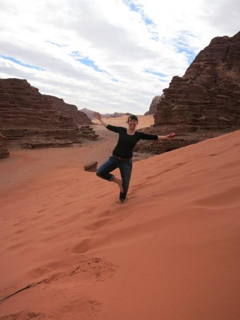 """Schiefe """"Baum"""" in Wadi Rum/Jordanien"""