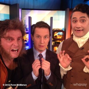 'Interview with a vampire...and a werewolf.' - Anton and Viago on Channel Ten The Project