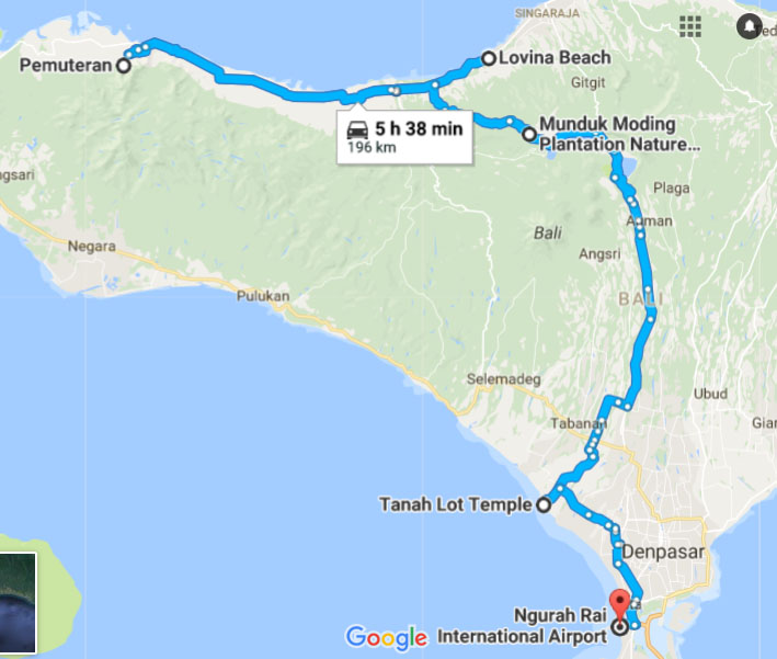 Off The Beaten Track Bali With Kids Map