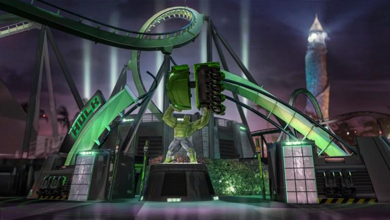Incredible Hulk Coaster entrance