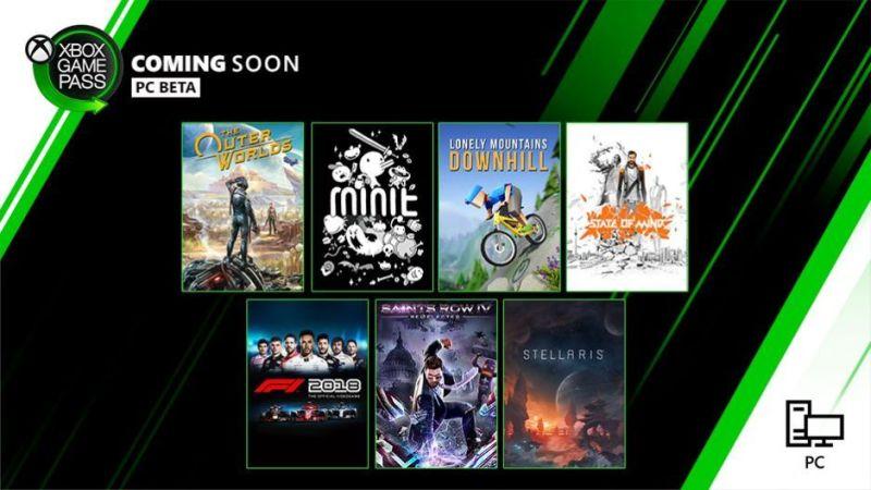 Xbox Game Pass PC październik 2019