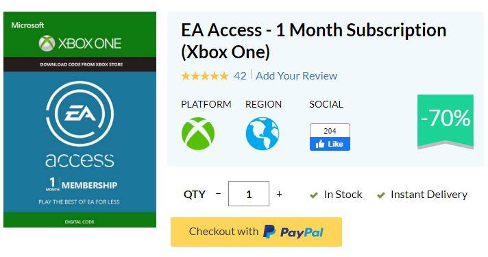 Promocja EA Access