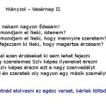 Hianyzol - Vasarnap II
