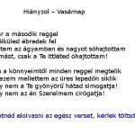 Hianyzol - Vasarnap