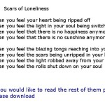 Scars of loneliness_new