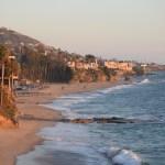 Laguna Beach coastline at sunset12