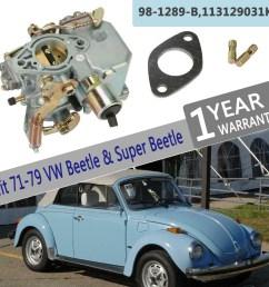 carburetor 34 pict 3 dual port air cooled type 1 engine for vw super beetle 1 6l [ 1000 x 1000 Pixel ]