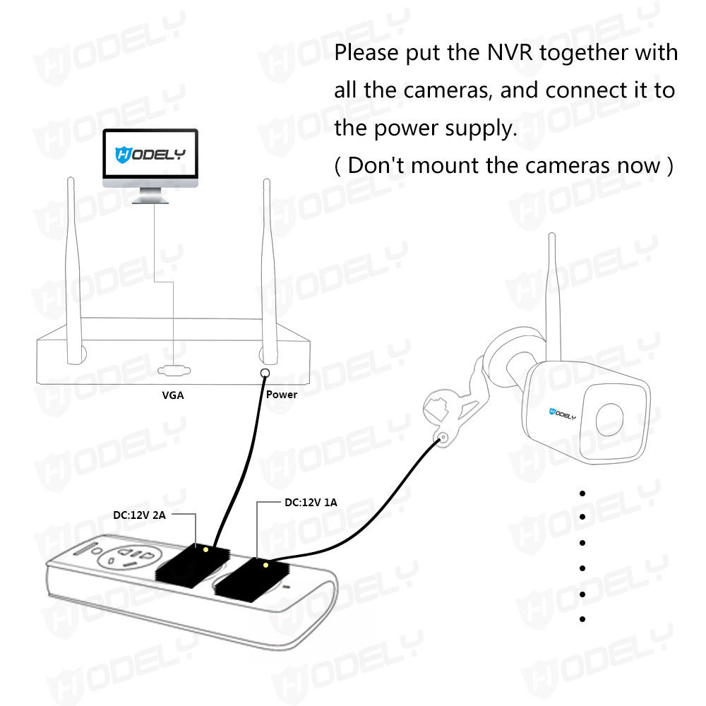 8CH 1080P NVR Outdoor PIR IR-CUT WIFI Camera Home Security