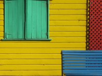Colorful houses and art of La Boca, Argentina