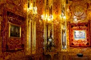 "The fabled ""Amber Room"" at Catherine's Palace in Pushkin, St. Petersburg, Russia."