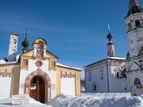 Colorful church in Suzdal