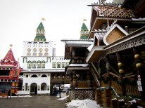 Ornate buildings at Izmailovsky Market