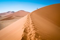 Walking up Dune 45, Sossusvlei, Namibia